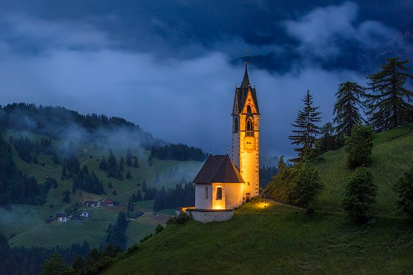 St. Barbara church, Wengen, Dolomites, Italy