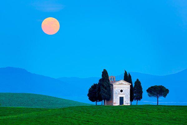 Chapel of Vitaleta, Tuscany, Italy