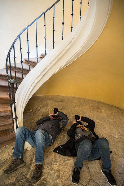 Kutna Hora Stairwell, Czech Republic