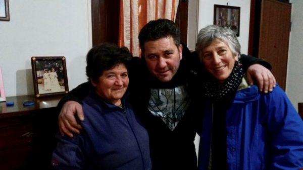 Enrico's mother on the left