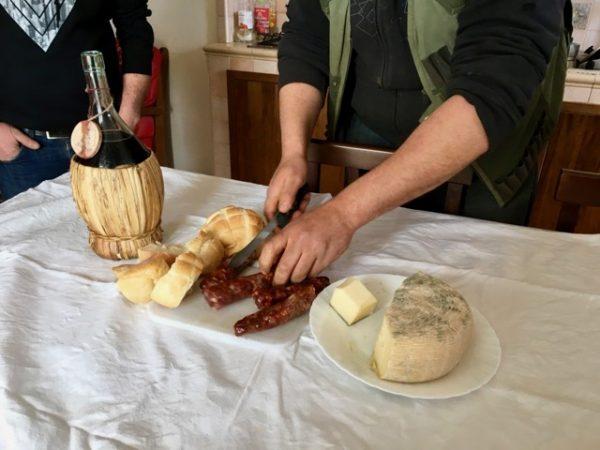 Tasting of Antonio La Mura's salumi