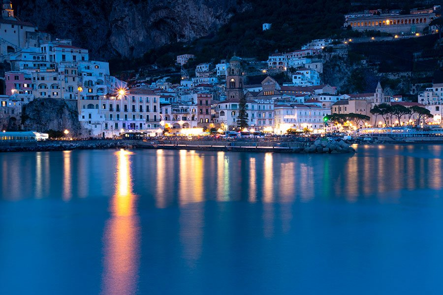 Amalfi, Italy, at night