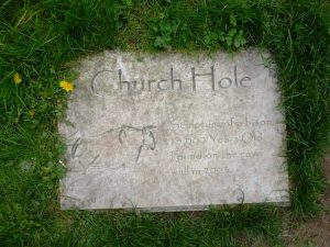 Church, church hole, Creswell