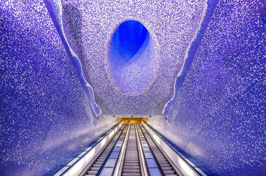 The stunning Toledo Metro Station in Naples, Italy