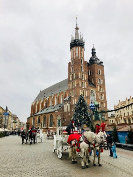 Krakow's UNESCO Market Square at Christmastime