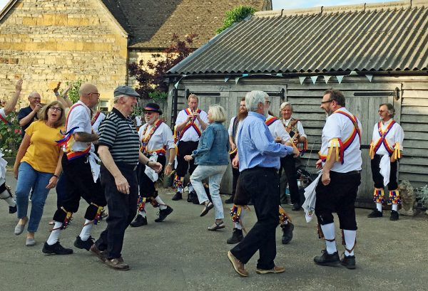 Charley's retirement party and Morris dancing - Cotswolds