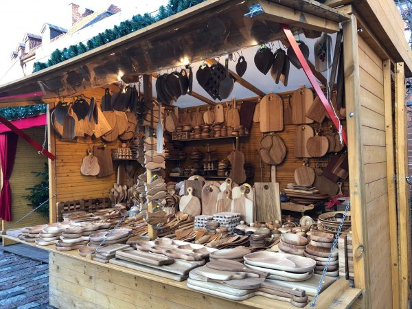 A booth at the Christmas Market in Warsaw, Poland
