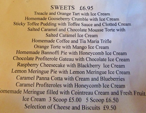 Cotswolds Experience - Lygon Arms sweets