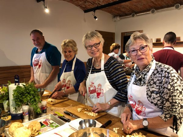 Poland Culinary Vacations guests cooking in Krakow, Poland