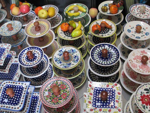 Beautiful Polish Pottery at the Polish Pottery Festival in Poland