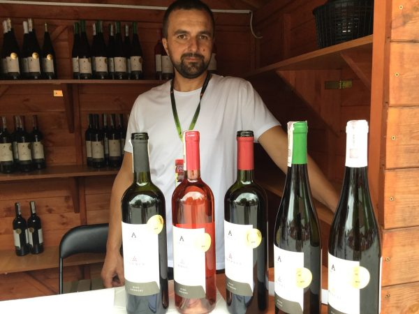 Wine and wine maker at the Wine Days Festival in Jaslo, Poland
