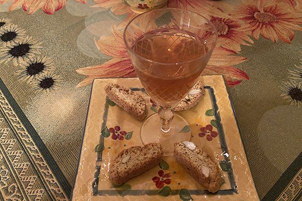 Tuscan meal inspired by Rita - cantuccini