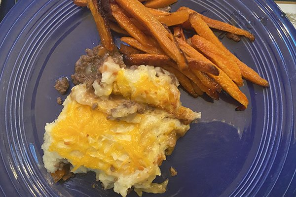 Cotswolds-inspired meal - cottage pie