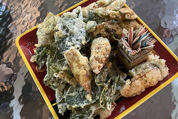 Rita's fried sage, artichokes and rosemeary