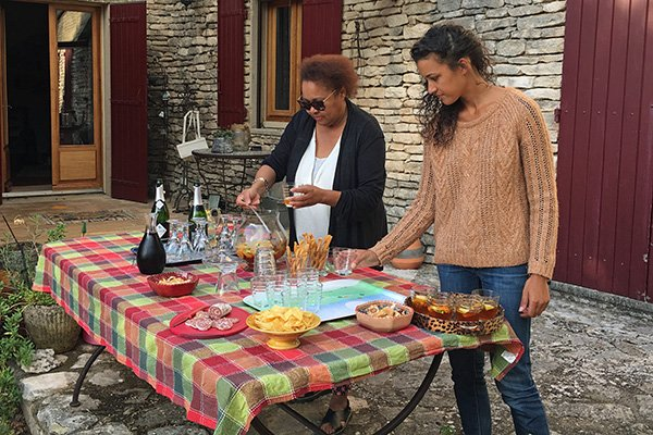 An evening with Janice in the Luberon