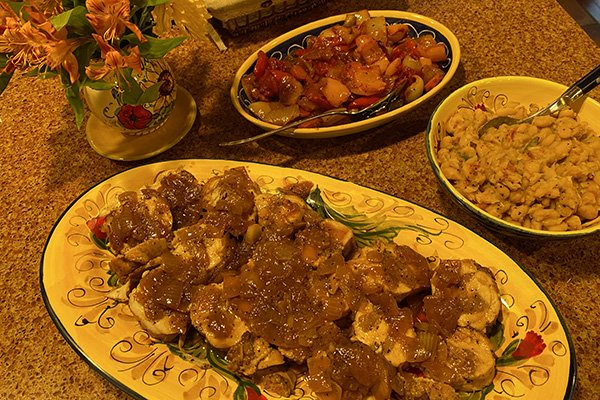 Tuscan meal inspired by Stefania - meat and vegetables