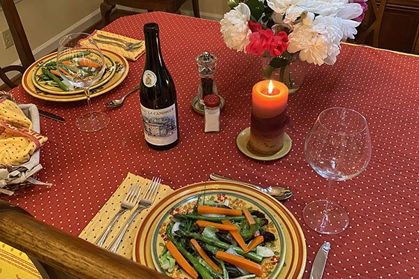 Luberon-inspired meal - our table