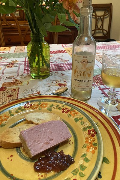 Perigord-inspired meal - pate