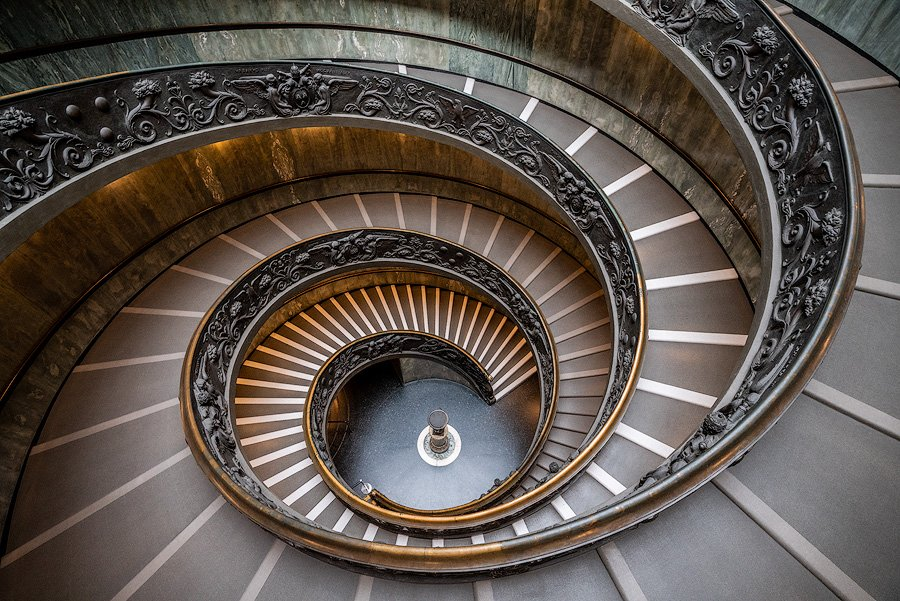 bramante stairwell, Rome, Italy