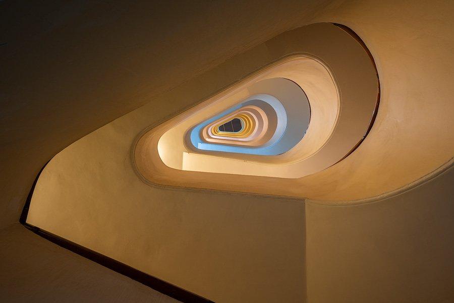 Stairwell, Naples, Italy
