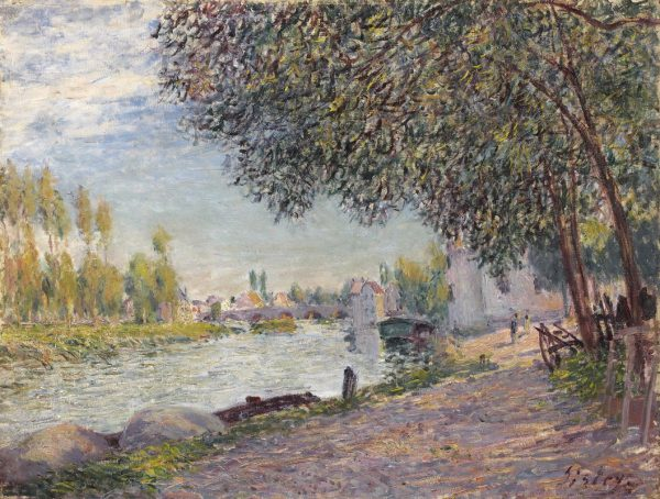 The port of Moret-sur-Loing as depicted by Alfred Sisley in 1888.