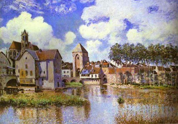 Moret-sur-Loing the Porte de Bourgogne 1891 by Alfred Sisley.