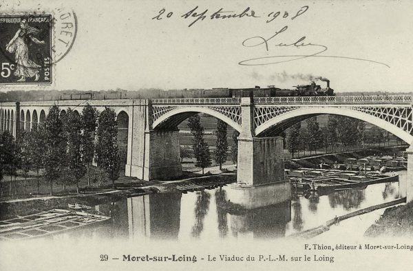 Steam haulage on the St Mammés Viaduct in 1908