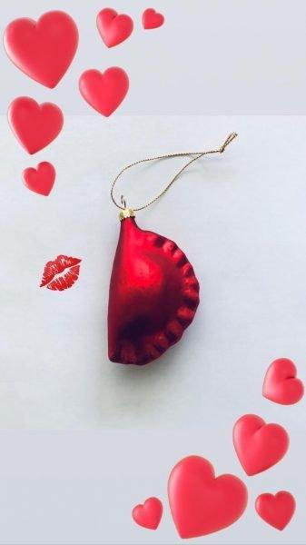 Red pierogi ornaments