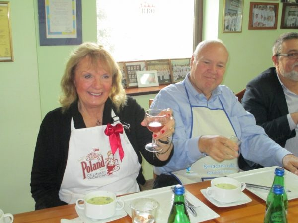 """Donna & Ed in Gdansk - """"Coastal Cooking in Pomerania and Gdansk"""" tour."""