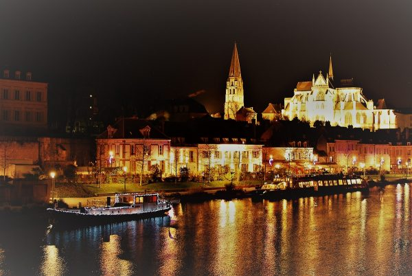 Auxerre at Night