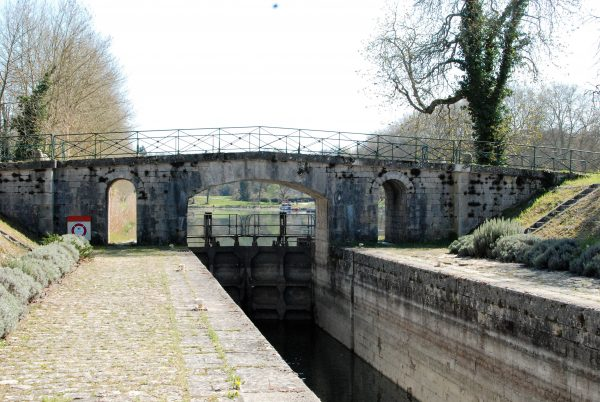 The Old Canal Lock Into The Loire