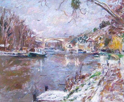 Winter Scene by Miguel de Bernéde