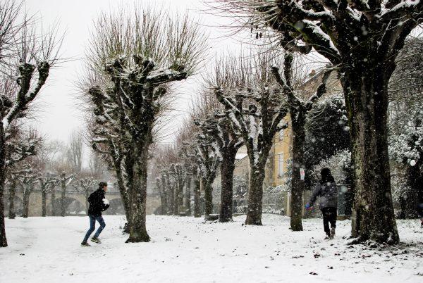 Winter's snow at Moret-sur-Loing