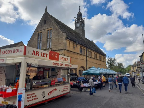 Market day is every Tuesday on the High Street