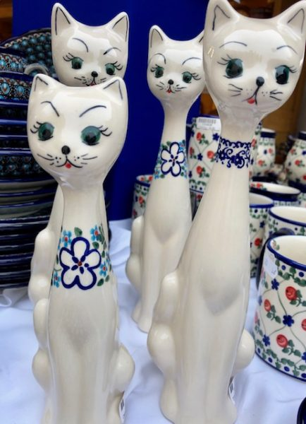 Kitty designs at the Polish Pottery Festival