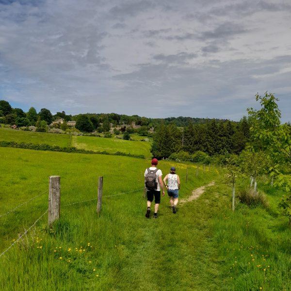 Walking towards Bourton House Garden