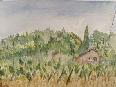 Paint Provence with Tess - countryside scene