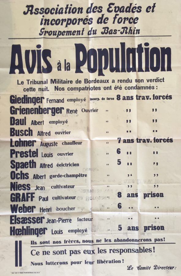 List of Alsatians malgre-nous on trial for the massacre at Oradour sur Glane