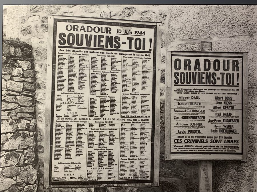 Signs posted at Oradour-sur-Glane in 1953