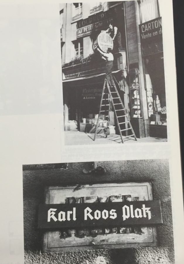 Alsace Experience - Photos showing how names of streets were changed to German names