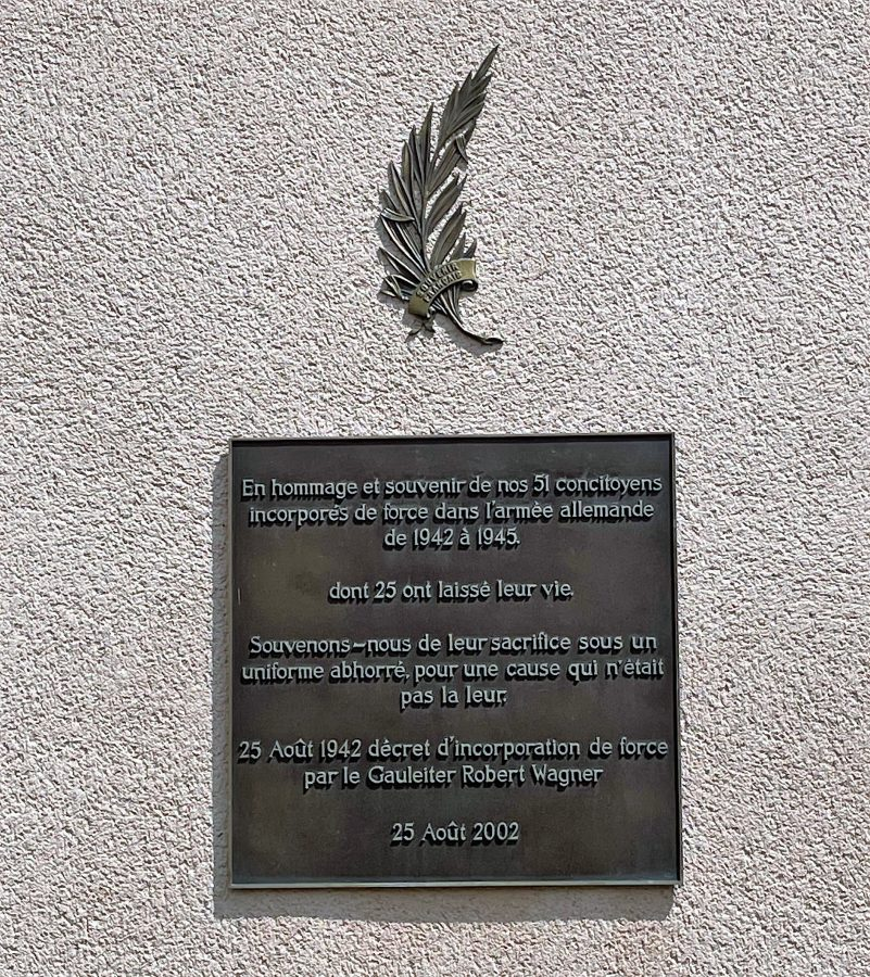 Plaque in the village of Kientzheim